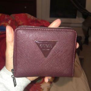 Maroon Guess Wallet